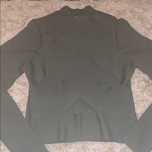 Tops - Gorgeous Army Green Back cut out